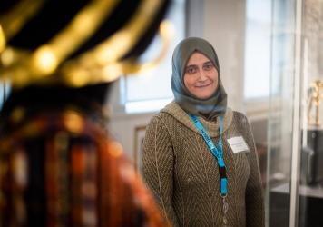 """The University of Pennsylvania Museum of Archaeology and Anthropology — known as The Penn Museum — has hired refugees and immigrants from the Middle East, Africa and Central America as part of their """"Global Guides"""" program. Moumena Saradar, who is or"""