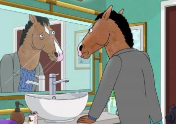 BoJack Horseman — voiced by Will Arnett — is a washed-up '90s sitcom star, who also happens to be a horse.