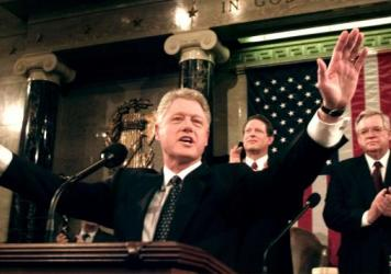 President Bill Clinton gave his 1999 State of the Union address during his impeachment trial, just as President Trump will on Tuesday.