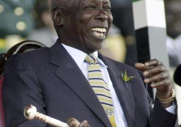 President of Kenya Daniel arap Moi, shown in a photo from 2002. Moi has died at 95.