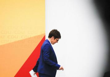 Annegret Kramp-Karrenbauer, German Chancellor Angela Merkel's designated successor, says she will quit her role as head of the Germany's strongest party in summer and won't stand for the chancellorship.