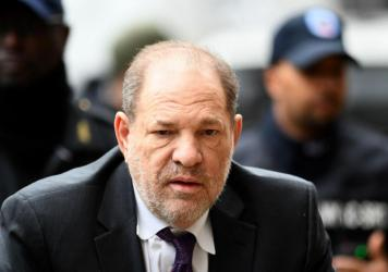Harvey Weinstein arrives at the Manhattan Criminal Court on Monday, during the defense portion of his rape trial. Six women took the stand to say they were sexually assaulted by Weinstein — then Weinstein's legal team got the opportunity to have its sa