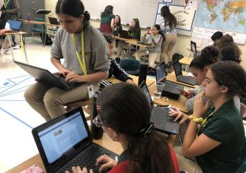 Middle school students at Everglades K-8 Center in Miami are working on a magazine about mass shootings and hope to distribute it to every member of Congress.