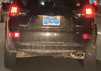 "Toronto videojournalist Andrew Collins noticed that the new plates are ""totally unreadable from a distance at night."" He tweeted this still from a dash camera video."