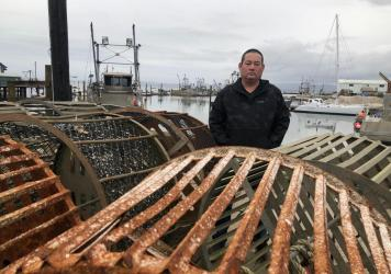 Kenichi Wiegardt is a fifth-generation oyster grower. He's worried he'll be the last in his family if the coronavirus doesn't get better and trade doesn't pick up again to China and other Pacific Rim countries. Exports there make up the majority of his f