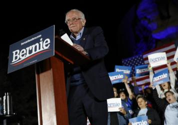 Democratic presidential candidate Sen. Bernie Sanders now has victories in two of the first three states to weigh in on the 2020 Democratic presidential nomination.
