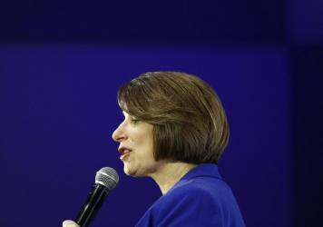 """In making her case for electability, Sen. Amy Klobuchar of Minnesota has repeatedly said she's the Democratic presidential candidate who """"brings the receipts."""""""