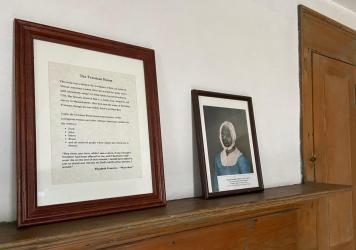The Freeman Room in the Ashley House in Sheffield, Mass., includes a portrait of Elizabeth Freeman.