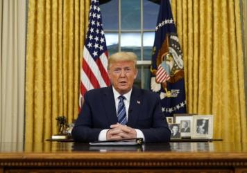 President Trump announced a travel ban against Europe amid the coronavirus pandemic during remarks issued from the Oval Office on Wednesday night.