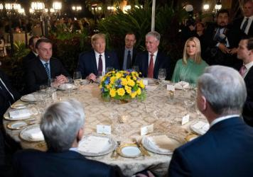 President Trump and other U.S. officials met with Brazilian President Jair Bolsonaro and his delegation last weekend at Mar-a-Lago in Palm Beach, Fla.