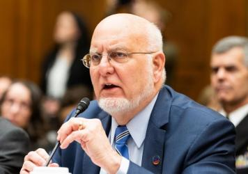 Dr. Robert Redfield, director of the Centers for Disease Control and Prevention, speaks at a House Committee on Oversight and Reform hearing about the coronavirus on March 11.