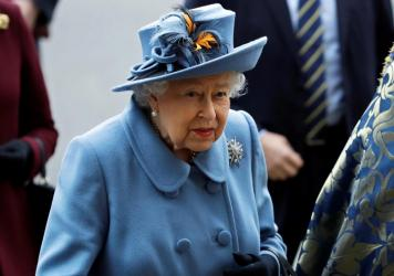 Britain's Queen Elizabeth II arrives to attend the annual Commonwealth Day service at Westminster Abbey in London on March 9. In a rare address to the nation on Sunday, the queen plans to exhort Britons to rise to the challenge of the coronavirus pandemi