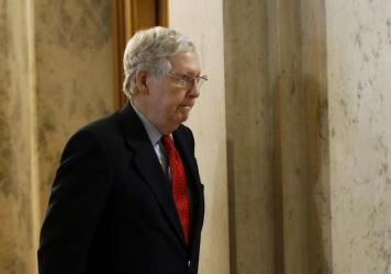 """""""We need more funding — and we need it fast,"""" Senate Majority Leader Mitch McConnell said on the Senate floor."""
