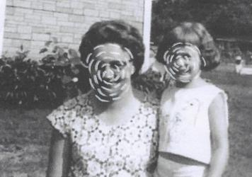 """""""In this work I explore eroding memory. Here, my grandmother, who battled with dementia, remembers the relationship with her daughter (my aunt) but mistook me for her when she momentarily lost recognition of my face. I became unknown but familiar,"""" write"""