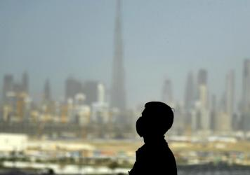 A man wearing a protective mask in Dubai on March 23.