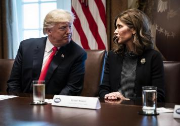 "South Dakota Republican Gov. Kristi Noem, an ally of President Trump, says she will continue to take a ""targeted"" approach and not issue a statewide stay-at-home order. City leaders in the state, including the mayor of Sioux Falls, where there has been a"