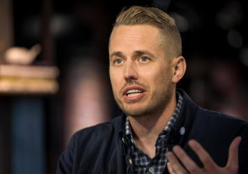 Joel Flory, co-founder and chief executive officer of Visual Supply Co. (VSCO), speaks during a Bloomberg Technology television interview in December 2019. On Tuesday, Flory announced VSCO is laying off a third of its staff because of the coronavirus-fue