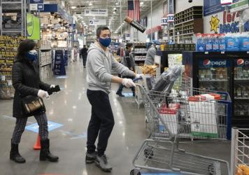 Retail sales plunged a record 8.7% last month as the coronavirus pandemic shut down economic activity around the country.
