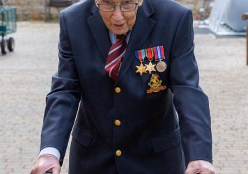 Tom Moore, who served as an army captain in World War II, had originally aimed to raise $1,250 before his 100th birthday on April 30. More than 347,000 people have donated to his effort.