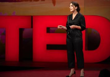 Suleika Jaouad speaks at TED2019: Bigger Than Us. April 15 - 19, 2019, Vancouver, BC, Canada. Photo: Ryan Lash / TED