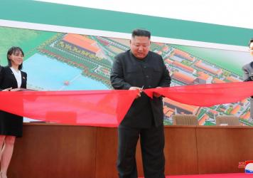 North Korean leader Kim Jong Un attended a ceremony for a new fertilizer plant north of Pyongyang on Friday, his first public appearance in weeks.