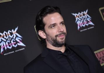 Nick Cordero, here in January on opening night of <em>Rock of Ages</em> in Hollywood, has emerged from a coma during a difficult fight with COVID-19, according to his wife.