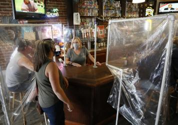 Powell's Steamer Co. & Pub reopened to patrons on Wednesday. The pub is in Placerville, El Dorado County, Calif., one area that's entered Expanded Stage 2 of reopening its economy.
