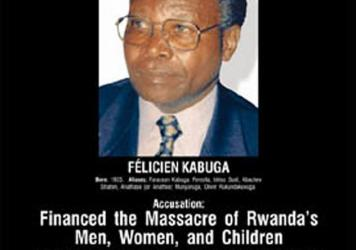 Félicien Kabuga, seen in this undated wanted poster, has been arrested for his alleged role in the Rwandan genocide in 1994.