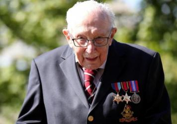 Capt. Tom Moore, 100, is being awarded a knighthood by Queen Elizabeth II after raising more than $39 million in charity for medical workers. Moore walked 100 laps in his garden to earn donations.