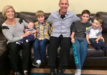 Denise and Richard Victor of Bloomfield Hills, Mich., have been missing their grandkids, whom they haven't seen since February. Before the pandemic, they had regular visits with grandsons (from left) Daren Cosola, Stirling Victor, Davis Victor and Lucas
