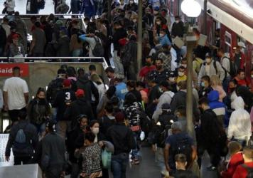 Commuters at the Luz station in São Paulo. Brazil has the world's second-highest number of COVID-19 cases after the U.S.
