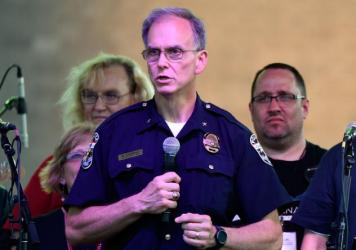 Louisville, Ky., Police Chief Steve Conrad, pictured in 2016, has been fired over the death of a black man on Monday morning.
