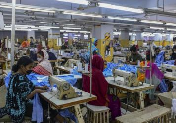 Garment workers were deemed essential employees during Bangladesh's lockdown and some resumed work in Dhaka last month.
