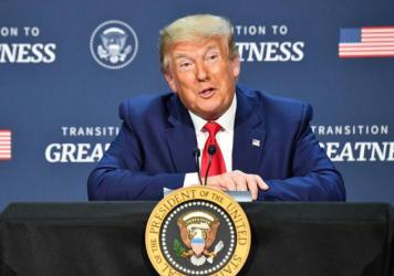 President Trump hosts a roundtable Thursday with faith leaders, law enforcement officials and small business owners in Dallas.