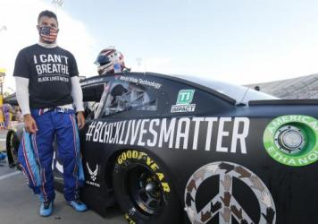 Bubba Wallace gained attention for his Black Lives Matter paint scheme on Wednesday in Martinsville, Va.