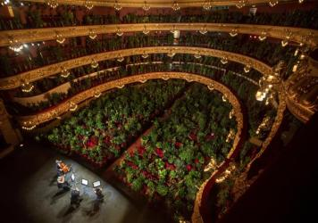 The Gran Teatre del Liceu in Barcelona filled its nearly 2,300 seats with plants for a June 22 concert, which was also broadcast online.