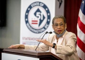 Delegate Eleanor Holmes Norton, D-D.C., speaks at a news conference on District of Columbia statehood efforts on June 16.