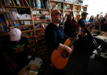 Pixies' members perform a Tiny Desk concert on Jan. 27, 2014.