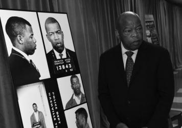 In November 2016, Congressman John Lewis viewed for the first time images and his arrest record from a March 5, 1963, nonviolent sit-in at Nashville's segregated lunch counters.