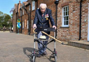 British World War II veteran Capt. Tom Moore raised more than $40 million for health care workers by walking laps in his garden in the weeks leading up to his hundredth birthday in April. He will be knighted in a private ceremony with Queen Elizabeth on