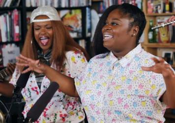Tank And The Bangas perform a Tiny Desk concert on Mar. 6, 2017. (Niki Walker/NPR)