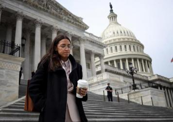Rep. Alexandria Ocasio-Cortez, seen here in March, spoke on the House floor Thursday to address vulgar and sexist comments she says were directed at her by a Republican colleague.