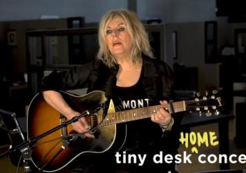 <strong>Lucinda Williams plays a Tiny Desk (home) concert.</strong>