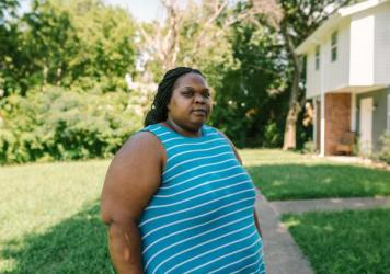 "West Atlanta resident Harriet Feggins has been out of work since March because of the pandemic. So far she has managed to pay her electric bill by scraping together odd jobs and dipping into her 401(k). ""I'm trying to do everything I can,"" she says, but"