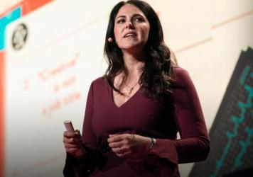 Writer and Anthropologist Laurel Braitman speaks from the TED stage.