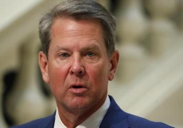 Georgia Gov. Brian Kemp, pictured last month, withdrew litigation against Atlanta Mayor Keisha Lance Bottoms and the City Council over a  requirement to wear masks in public and other restrictions related to the COVID-19 pandemic.