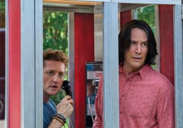Alex Winter and Keanu Reeves play Bill and Ted in <em>Bill & Ted Face The Music</em>.
