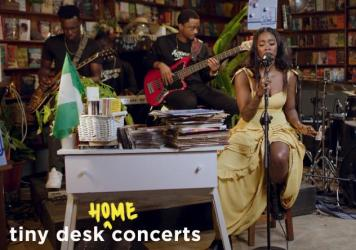 Tiwa Savage plays a Tiny Desk (home) concert.