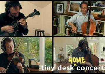 Yo-Yo Ma, Stuart Duncan, Edgar Meyer and Chris Thile plays a Tiny Desk (home) concert.