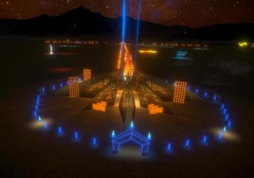 "The Multiverse Ethereal Empyrean Experience, by Laurence ""Renzo"" Verbeck and Sylvia Adrienne Lisse, was selected as the official Black Rock City Temple for 2020."
